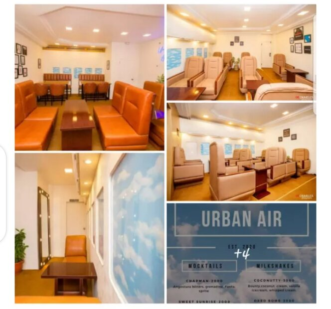 A Lady opens restaurant that looks like the interior of an airplane in Abuja.