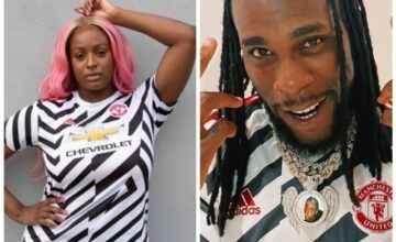 Burna Boy and Cuppy Officially Launches Manchester United Jersey