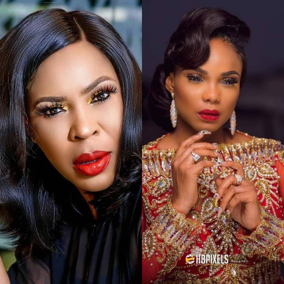 Faithia Balogun Sets Beef Aside as she Sympathises with Iyabo Ojo after loss of Mother