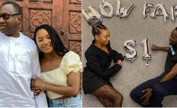 Femi Otedola asks for Wedding from daughter, Temi and Boyfriend, Mr Eazi