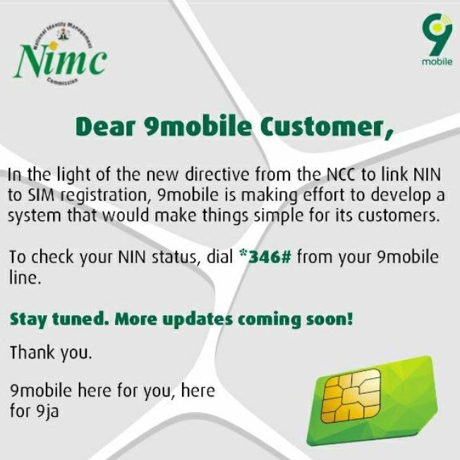 How To Link Your SIM Cards With NIN