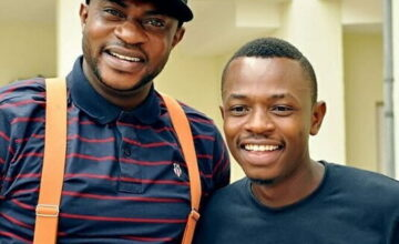 PHOTO: Odunlade Adekola Gifts Little Brother with Brand New Car