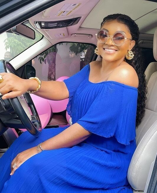 Mercy Aigbe Surprised with Brand New Range Rover for Birthday