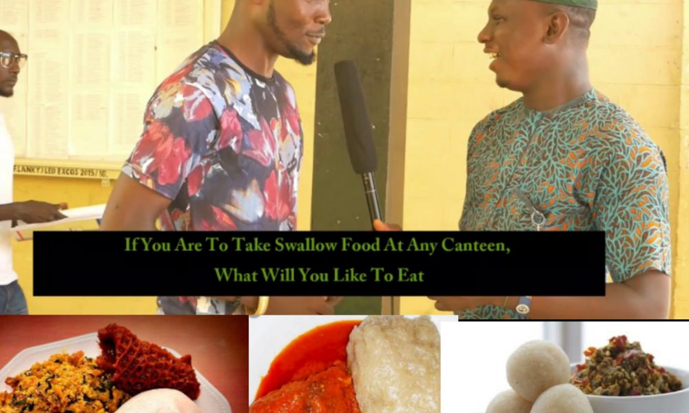 If You're To Take Swallow Food At Any Canteen, What Will U Order For & What Will U Do With The Soup?