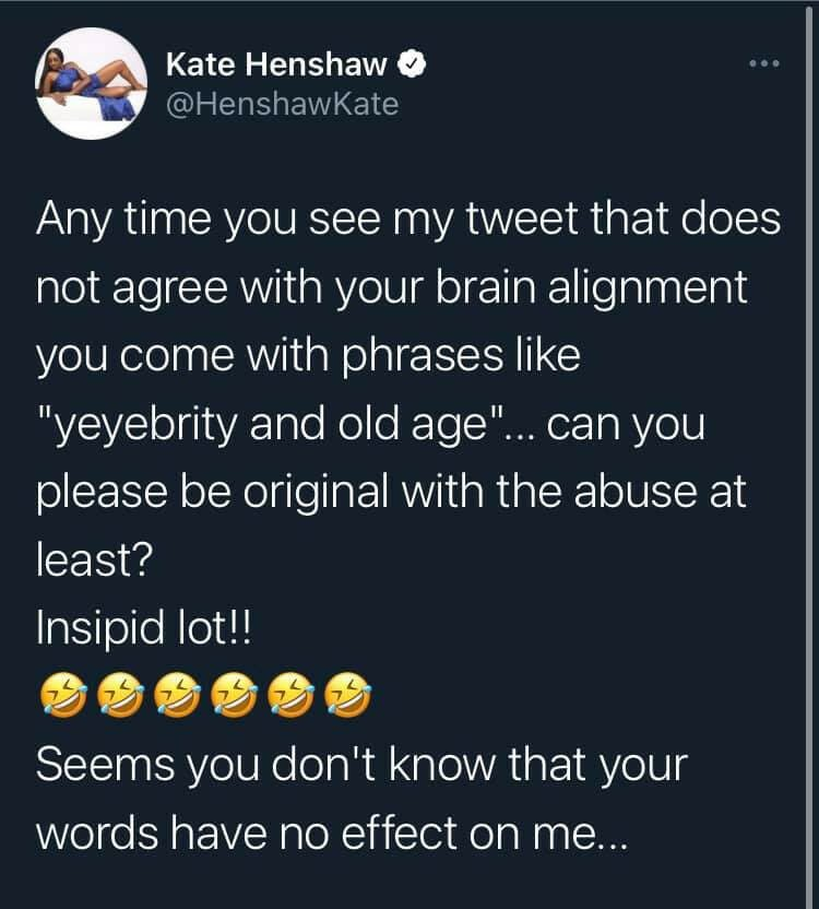 You Are Heaping Curses On Your Head- Kate Henshaw