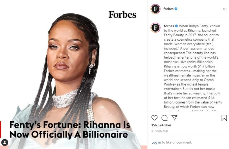 Rihanna Becomes 'Wealthiest Female Musician' In The World
