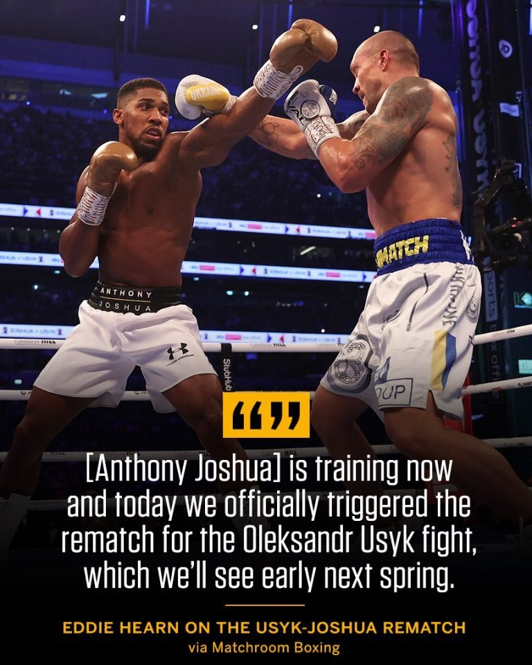 Anthony Joshua Officially Triggers Rematch Clause To Face Oleksandr Usyk
