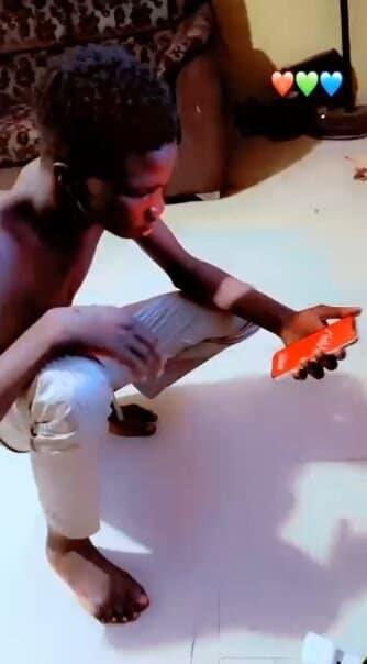 Man shows off fake iPhone 12 he bought at Computer Village in Lagos (See Video)